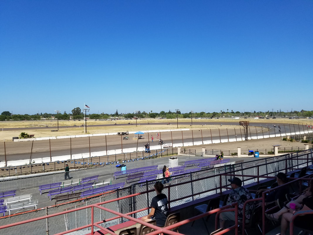 Lodi Motorcycle Club Half Mile Track View from 6-16-2018 Race at Stockton Dirt Track